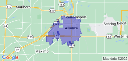 Alliance, Ohio Border Map