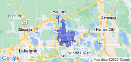 Auburndale, Florida Border Map