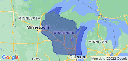 Wisconsin Border Map
