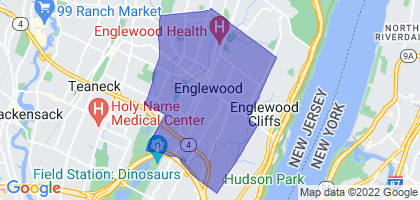Englewood, New Jersey Border Map