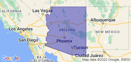 Arizona Border Map