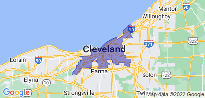 Cleveland, Ohio Border Map