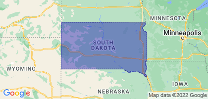 South Dakota Border Map