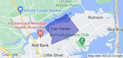 Fair Haven, New Jersey Border Map