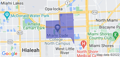 Westview, Florida Border Map