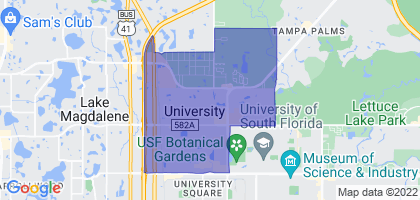 University, Florida Border Map