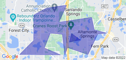 Altamonte Springs, Florida Border Map