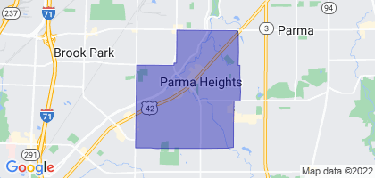 Parma Heights, Ohio Border Map