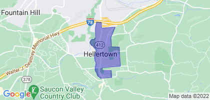 Hellertown, Pennsylvania Border Map