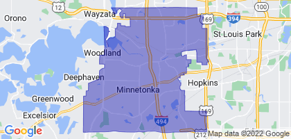 Minnetonka, Minnesota Border Map