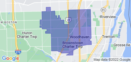 Woodhaven-Brownstown School District, Michigan Border Map