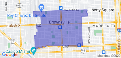 Brownsville, Florida Border Map