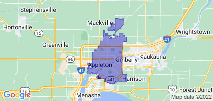Appleton, Wisconsin Border Map