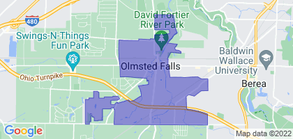 Olmsted Falls, Ohio Border Map