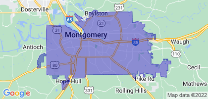 Montgomery, Alabama Border Map