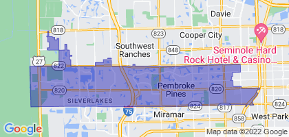 Pembroke Pines, Florida Border Map