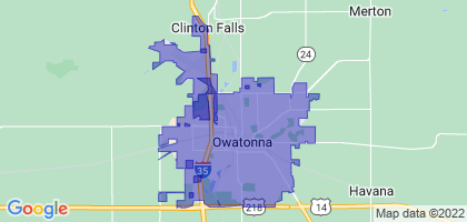 Owatonna, Minnesota Border Map