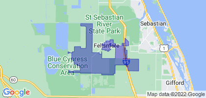 Fellsmere, Florida Border Map