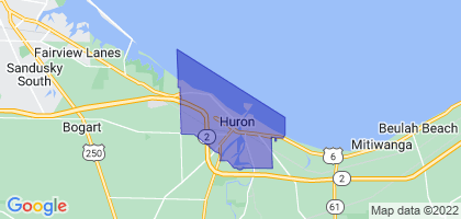 Huron, Ohio Border Map