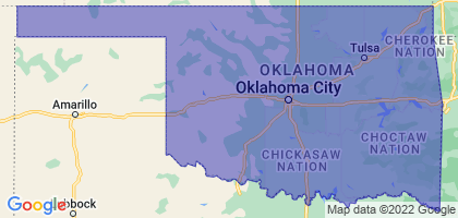 Oklahoma Border Map