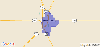 Brownfield, Texas Border Map