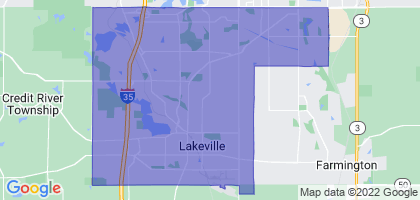 Lakeville, Minnesota Border Map