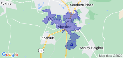 Aberdeen, North Carolina Border Map