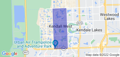 Kendall West, Florida Border Map