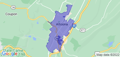 Altoona, Pennsylvania Border Map