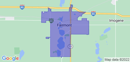 Fairmont, Minnesota Border Map