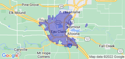 Eau Claire, Wisconsin Border Map