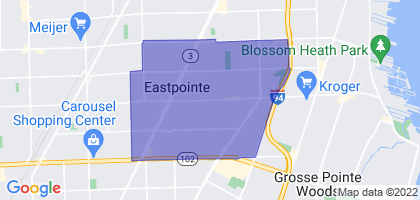Eastpointe, Michigan Border Map