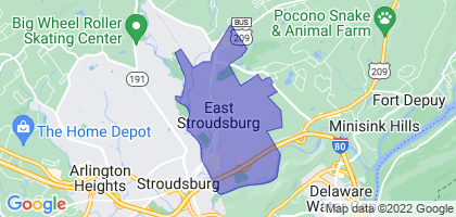 East Stroudsburg, Pennsylvania Border Map