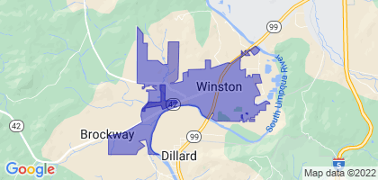 Winston, Oregon Border Map