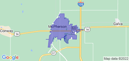 McPherson, Kansas Border Map