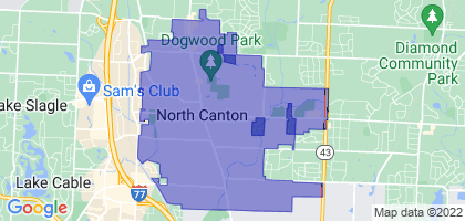 North Canton, Ohio Border Map