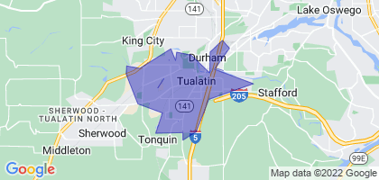 Tualatin, Oregon Border Map