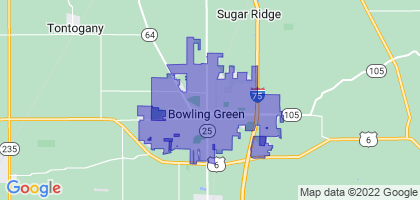 Bowling Green, Ohio Border Map