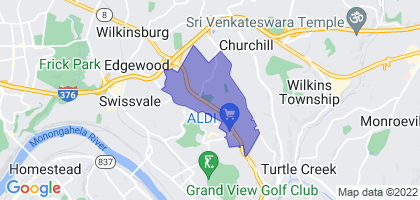 Forest Hills, Pennsylvania Border Map