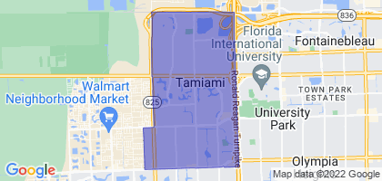 Tamiami, Florida Border Map