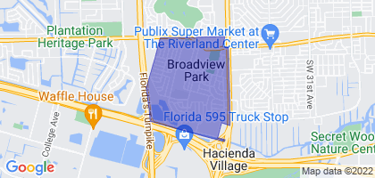 Broadview Park, Florida Border Map
