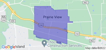 Prairie View, Texas Border Map