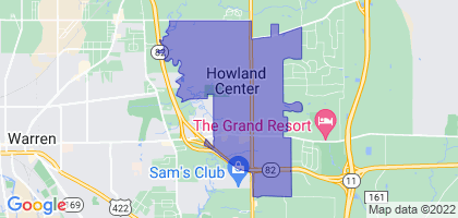 Howland Center, Ohio Border Map