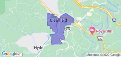 Clearfield, Pennsylvania Border Map