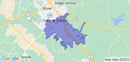 College Station, Texas Border Map