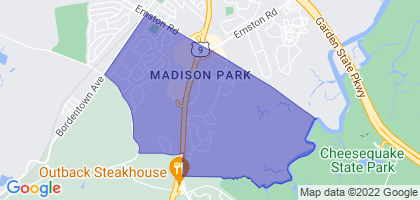 Madison Park, New Jersey Border Map