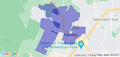 Helotes, Texas Border Map