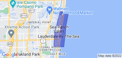 Lauderdale-by-the-Sea, Florida Border Map