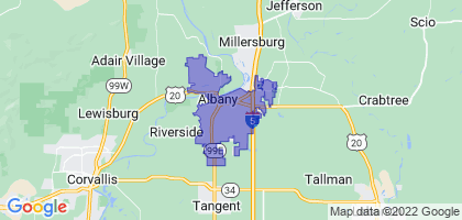 Albany, Oregon Border Map