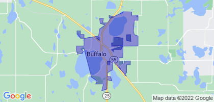 Buffalo, Minnesota Border Map